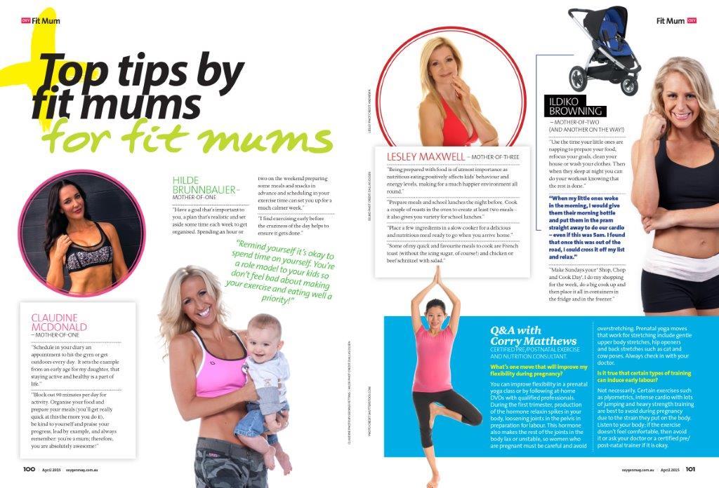 Hilde Brunnbauer - Oxygen Magazine Fit Mum