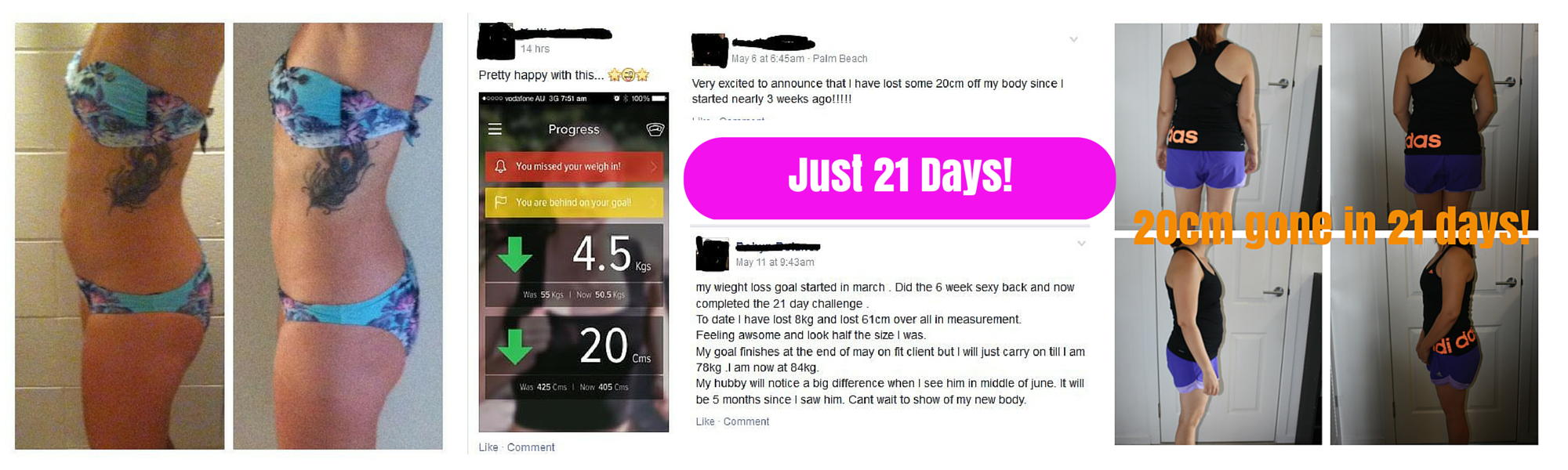 21 Day Challenge Results